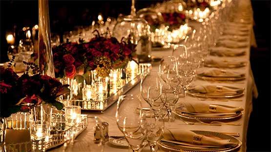 Wedding dinner & reception